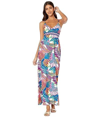 Trina Turk Paradise Plume Maxi Dress Cover-Up (Multi) Women