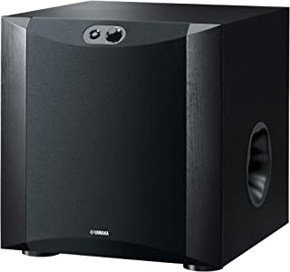 Yamaha Subwoofer Speaker with 250W Output Power, Twisted Flare Port - NSSW300B (Black)