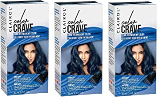 Clairol Color Crave Semi-permanent Hair Color, Indigo (3-PACK)