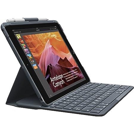 Logitech Slim Folio Funda para iPad con Teclado Bluetooth, iPad 5 a & 6 a Generation A1893,A1954, A1822, A1823, 14 Teclas de Acceso Directo de iOs, ...