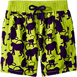 Happy Monkey Flocked Swim Trunk (Toddler/Little Kids/Big Kids)