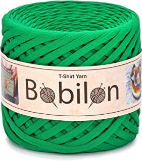 T-Shirt Yarn Fettuccini Zpagetti Style - Tshirt Yarn for Crocheting - Ribbon Yarn 100% Cotton - Knitting Yarn Ball - T Yarn Organic - Macrame T-Yarn - Thick Fabric Yarn - Jersey Yarn Green Island