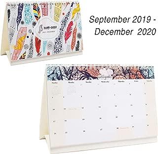 Desk Calendar From September 2019 Through December 2020 - 16 Months Colour Flip Calendar - Monthly Calendar Planner - Daily Planner - Desktop Calendar 2019-2020 - Tent Office Calendar