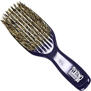 Torino Pro Wave Brush #0646 By Brush King - 9 Row, Medium Hard with Reinforced Boar & Nylon Bristles - Great for Wolfing -...