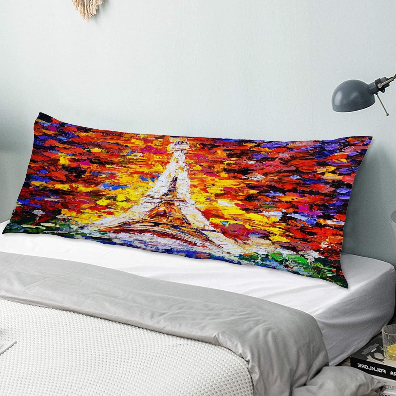 KENADVI Body Pillow 5 popular Cover Pillowcase Painting Tower Eiffel Oil - Superlatite