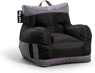 Big Joe Dorm 2.0 Beanbag Chair, One Size, Two Tone Black