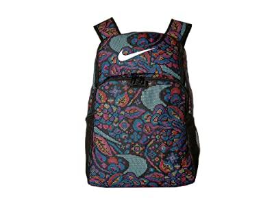 Nike Brasilia All Over Print 3 XL Backpack 9.0 (Black/Hyper Pink/White) Backpack Bags