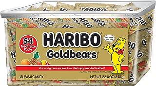 Haribo Goldbears Original Flavor Tub, Individually Wrapped, 54 Count per pack, 22.8 Ounce