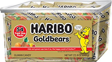 Haribo Goldbears Original Flavor Tub, Individually Wrapped, 54 Count per pack, 22.8 Ounce