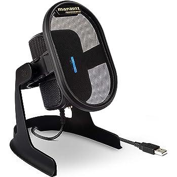 マランツプロ USB コンデンサーマイク ポップフィルター/ショックマウント搭載 在宅勤務/放送/ストリーミング/ゲーム実況/Skype/テレビ会議 ドライバー不要 スタジオグレードのサウンド Umpire