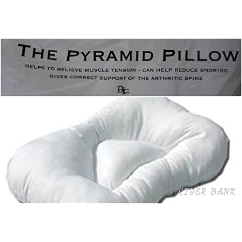 Pack Of 2 Anti Snore Pyramid Pillow Orthopaedic Support Pillow Non Allergenic