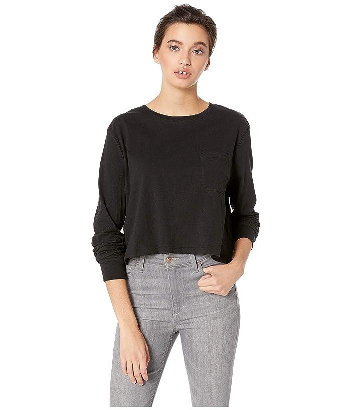 Richer Poorer Long Sleeve Crop (Black) Women's T Shirt
