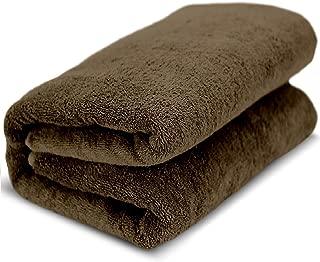 Towel Bazaar 100% Turkish Cotton Multipurpose Towels-Large Bath Sheet/Beach Towel/Bath Towel, Eco-Friendly (Oversized 40x80 inches, Cocoa)
