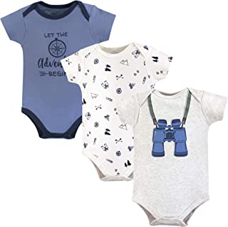 Little Treasure Baby-Boys Cotton Bodysuits Short Sleeve T-Shirt Set