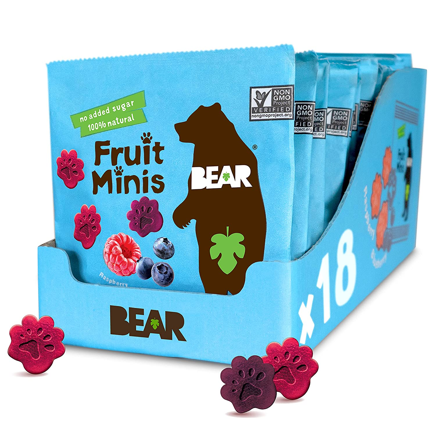 Recommended BEAR Fruit Minis Raspberry Blueberry Pack 0.7oz 18Count Large-scale sale X18