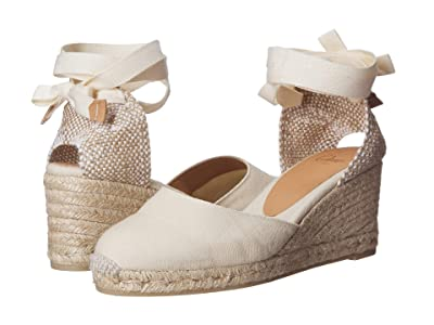 CASTANER Carina 60mm Wedge Espadrille (Ivory) Women