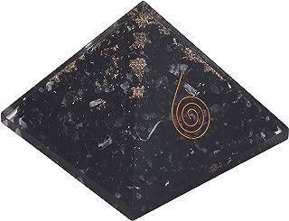 Crocon Black Tourmaline Orgone Pyramid for Reiki Healing Balancing EMF Protection Gemstone Aura Cleansing Spiritual House Decor Size: 2.5-3 Inch