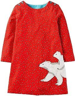 Surprise S Baby Girls Unicorn Dress Long Sleeve Children Princess Dress Animal Pattern Christmas Costume