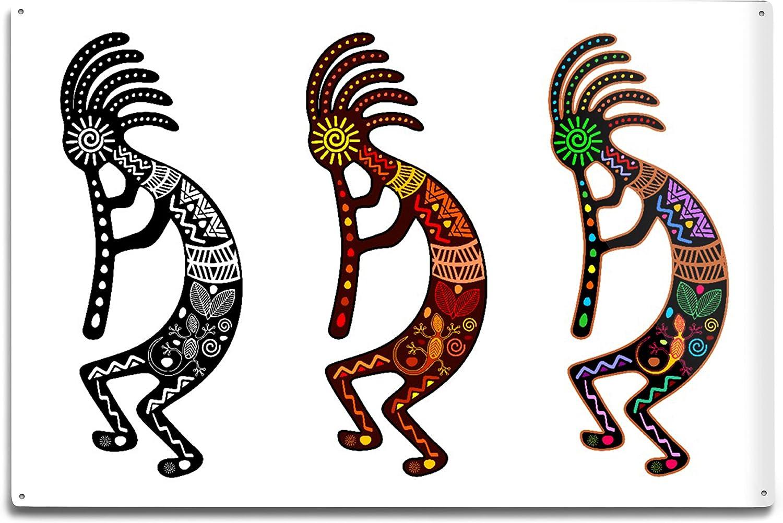 Lantern Press Three Kokopelli Tribal 12x18 Inspired Theme New sales SALENEW very popular! Alum