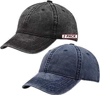 TSSGBL خمر القطن غسلها قابل للتعديل قبعات البيسبول للرجال والنساء، غير منظمة منخفضة المستوى الكلاسيكية ريترو أبي قبعة...