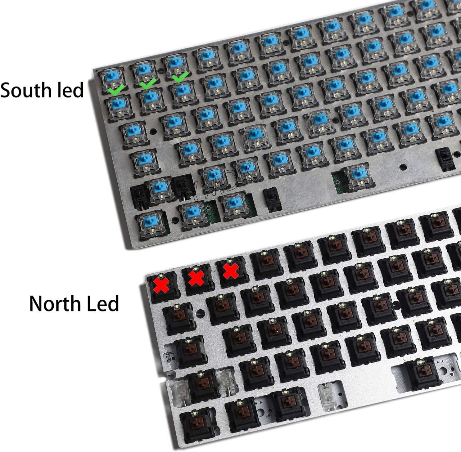 Black White PBT Double Shot 104 Side-lit Shine Through Translucent Backlit keycaps OEM Profile for MX Mechanical Keyboard Filco (White)(Only Keycap)