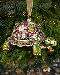 Jay Strongwater Jubilee Mille Fiori Turtle from Great Ornament Collection