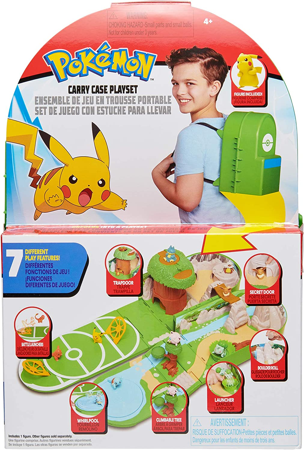 Pokemon Carry Case Playset, Feat. Different Locations Within One Playset,...