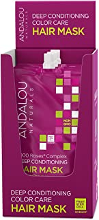 Andalou Naturals 1000 Roses Complex Color Care Deep Conditioning Hair Mask, Color Care