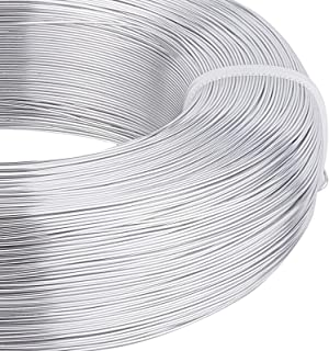 BENECREAT 1492 Feet 22 Gauge Silver Wire Bendable Metal Sculpting Wire for Beading Jewelry Making Art and Craft Project