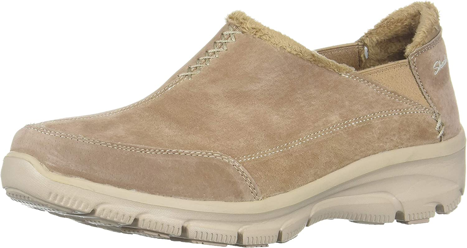 Skechers Womens Easy Going - Hive - Twin Gore Shootie with Faux Fur Trim Loafer