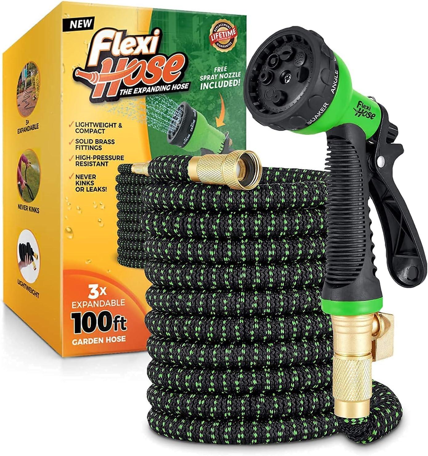 割引も実施中 Flexi Hose with 8 Function Nozzle Garden 即納最大半額 Lightweight Expandable