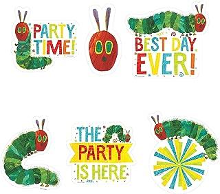 Fun Express - Very Hungry Caterpillar Wall Cutouts for Birthday - Party Decor - Wall Decor - Cutouts - Birthday - 5 Pieces