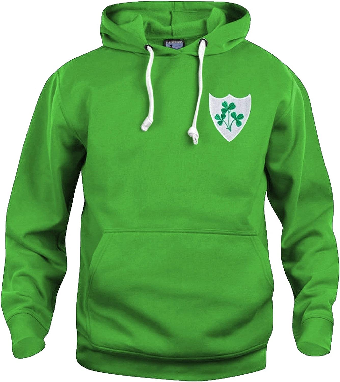 Old School Football r/étro Republic of Irlanda 1970s Rugby Taglie Felpa S-3XL Logo Ricamato