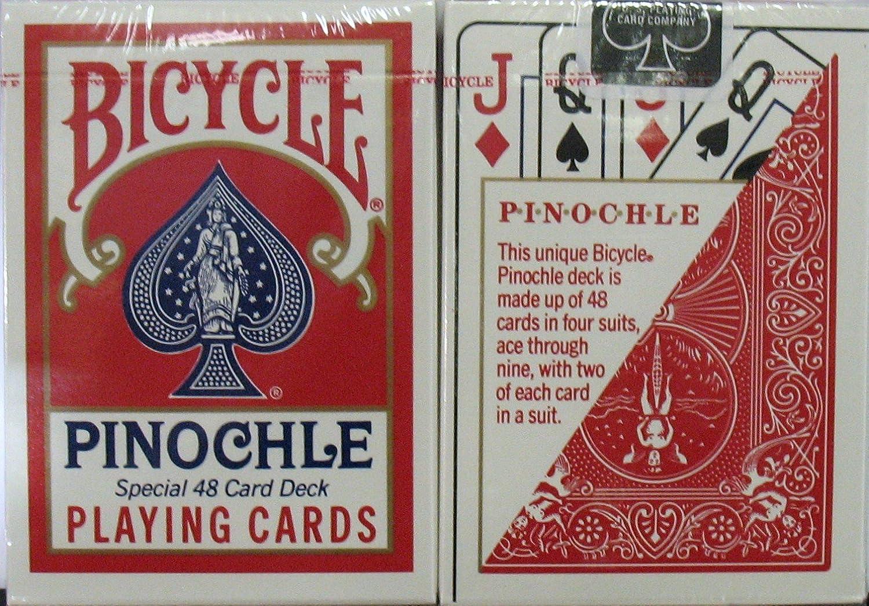 marca en liquidación de venta 12 12 12 rojo Decks Bicycle Pinochle Jugaring Cocheds by USPCC  ¡envío gratis!
