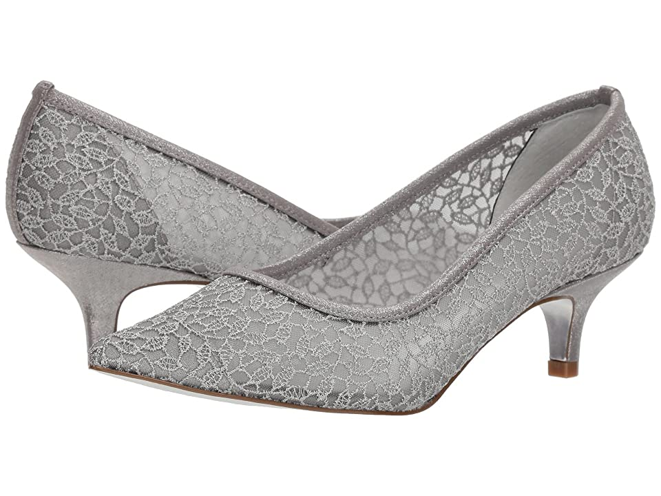 Adrianna Papell Lois Lace (Silver Valencia Lace) Women