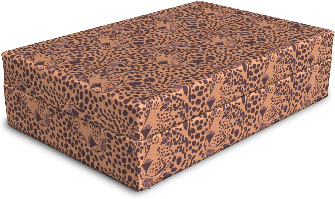 Lunarable Leopard Dog Bed Camouflage Direct stock discount with Pattern Reservation of Silhouette