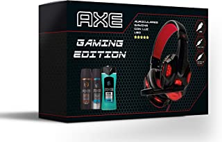 Axe Pack Auriculares Gaming Bodysprays 150 ml Ice Chill y Dark Temptation + Gel de Ducha 250 ml