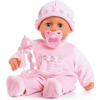 Bayer Design 93800 - Babypuppe First Words mit Schlafaugen, 24 Babylaute, 38 cm, rosa