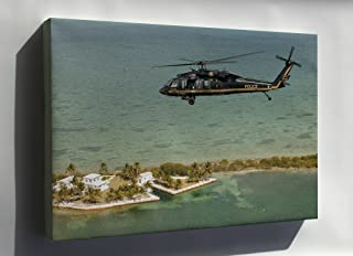 Canvas 16x24; Customs & Border Patrol Sikorsky Uh-60 Blackhawk Helicopter H-60