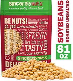 Sincerely Nuts Roasted Soybeans Unsalted (5 LB) Gluten-Free - Vegan & Kosher-Powerful Vegetarian Protein Source