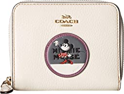 Boxed Minnie Mouse Small Zip Around Wallet with Patches ©Disney x COACH