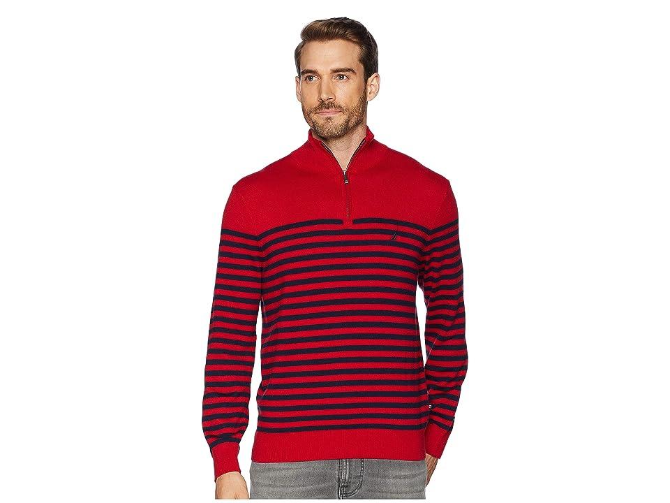 Nautica 12 Gauge 1/2 Zip Bretton Sweater (Nautica Red) Men
