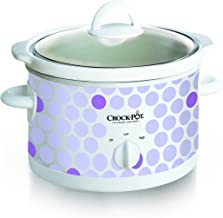Crock Pot 2-1/2-Quart Slow Cooker, Polka Dot Pattern (SCR250-POLKA)