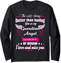 For Wives Loss Husband In Memorial Loving Husband In Heaven Long Sleeve T-Shirt