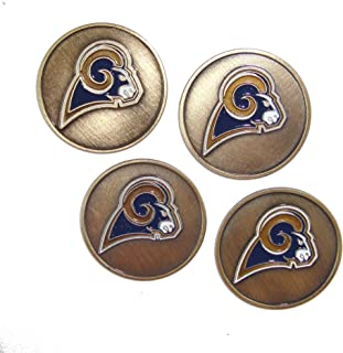 McArthur Los Angeles (LA) Rams Golf Ball Markers (Set of 4)