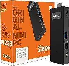 ZOTAC PICO ZBOX-PI223-W2B Intel Atom X5-Z8350 1.44GHz 2GB DDR3L-RS1600 32GB eMMC Intel HD Graphics 400 Windows 10 PC Stick