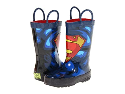 Western Chief Kids Limited Edition Printed Rain Boots (Toddler/Little Kid) (Superman Forever) Boys Shoes