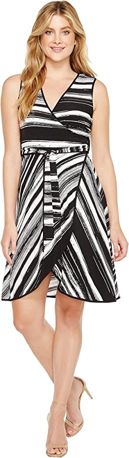 Calvin Klein - Self Tie Printed Jersey Dress