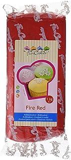 FunCakes Fondant, Color Rojo Fuego - 1000 gr