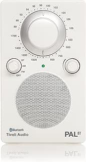 Tivoli Audio PALBTGW PAL BT Bluetooth Portable AM/FM Radio (High Gloss White/White)